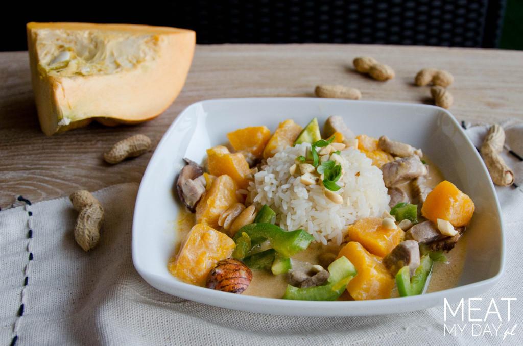 Curry panang z wieprzowiną
