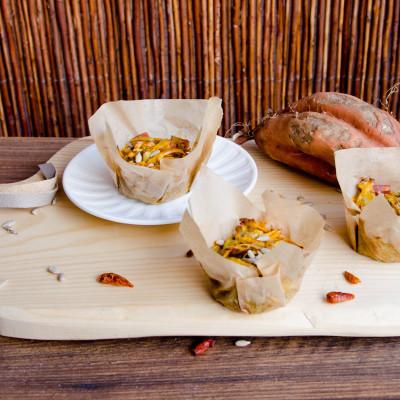Muffinki z batatów i boczku