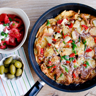 Tortilla hiszpańska z chorizo
