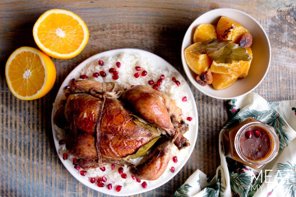 Kurczak z pomarańczami