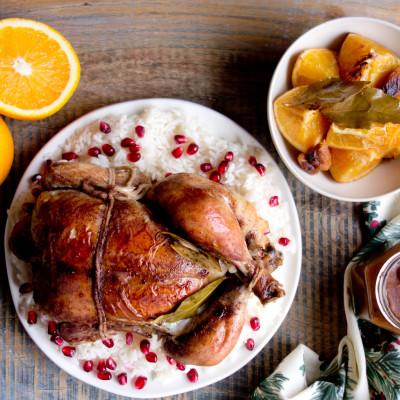 Kurczak z pomarańczami i sosem piernikowym
