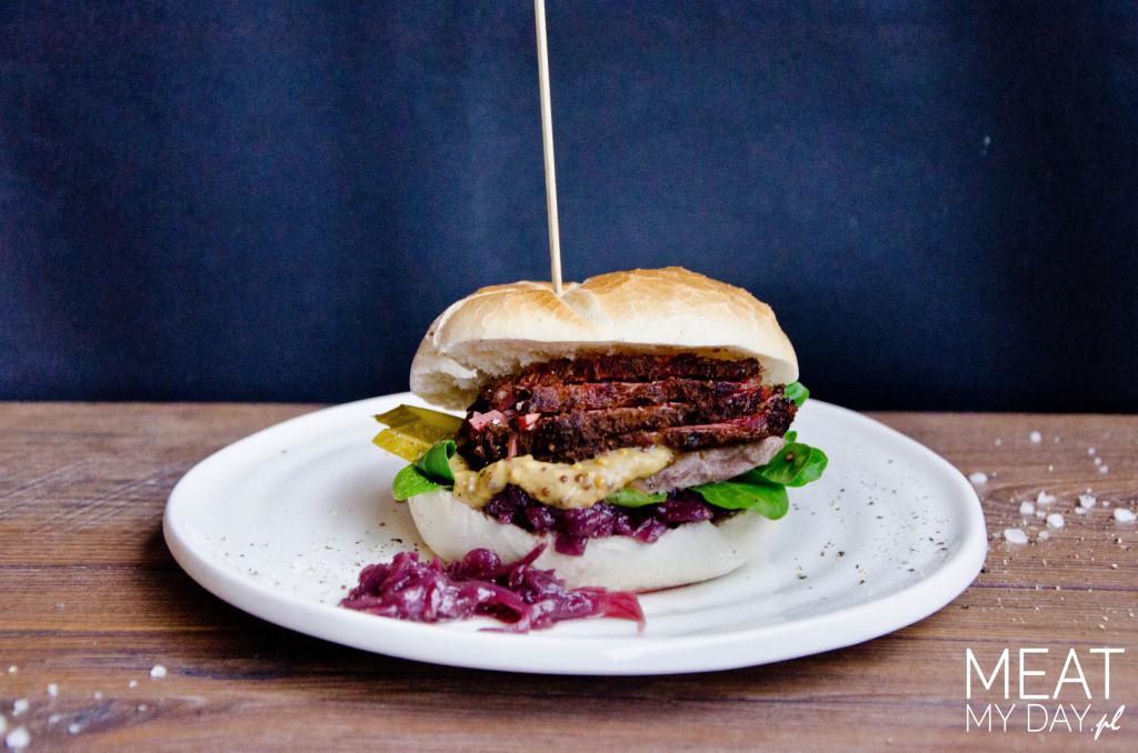 Pastrami burger z cielęciną
