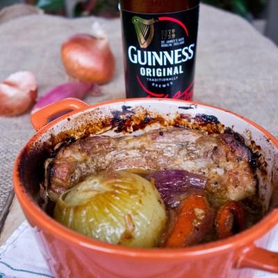 Boczek pieczony w piwie Guinness