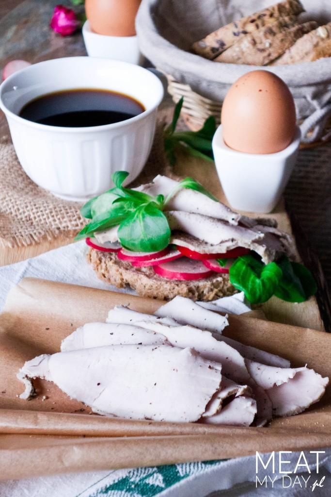 Schab parzony do chleba