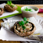 Pieczarki portobello nadziewane mięsem, serem i ziołami