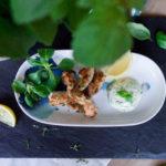 Żabie udka z majonezem bazyliowym