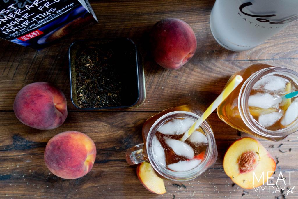 Mrożona brzoskwiniowa herbata