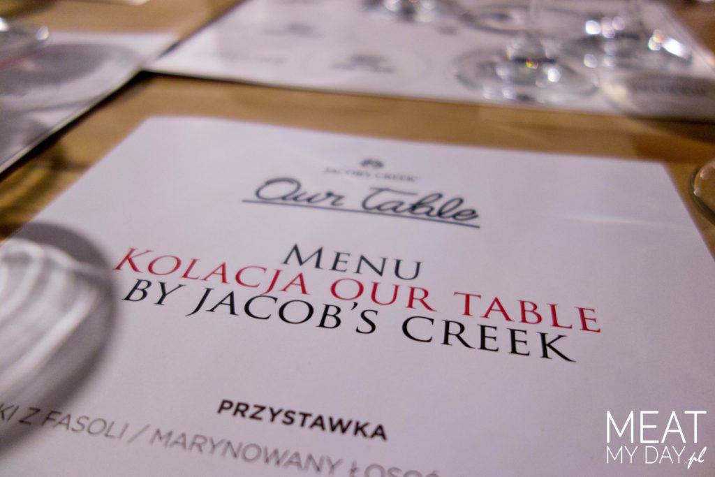 Menu Our Table w Restauracji Stół