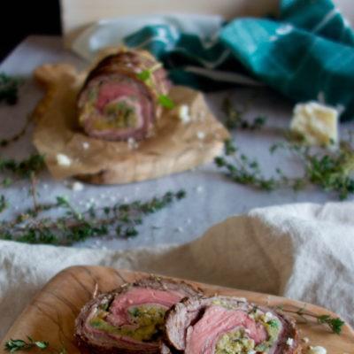 Włoska rolada – łata wołowa z oliwkami, anchois i pecorino