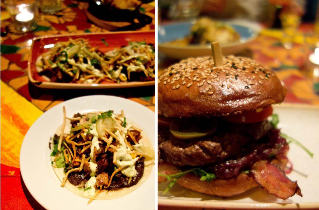 Taco z golonką i burger z dynią