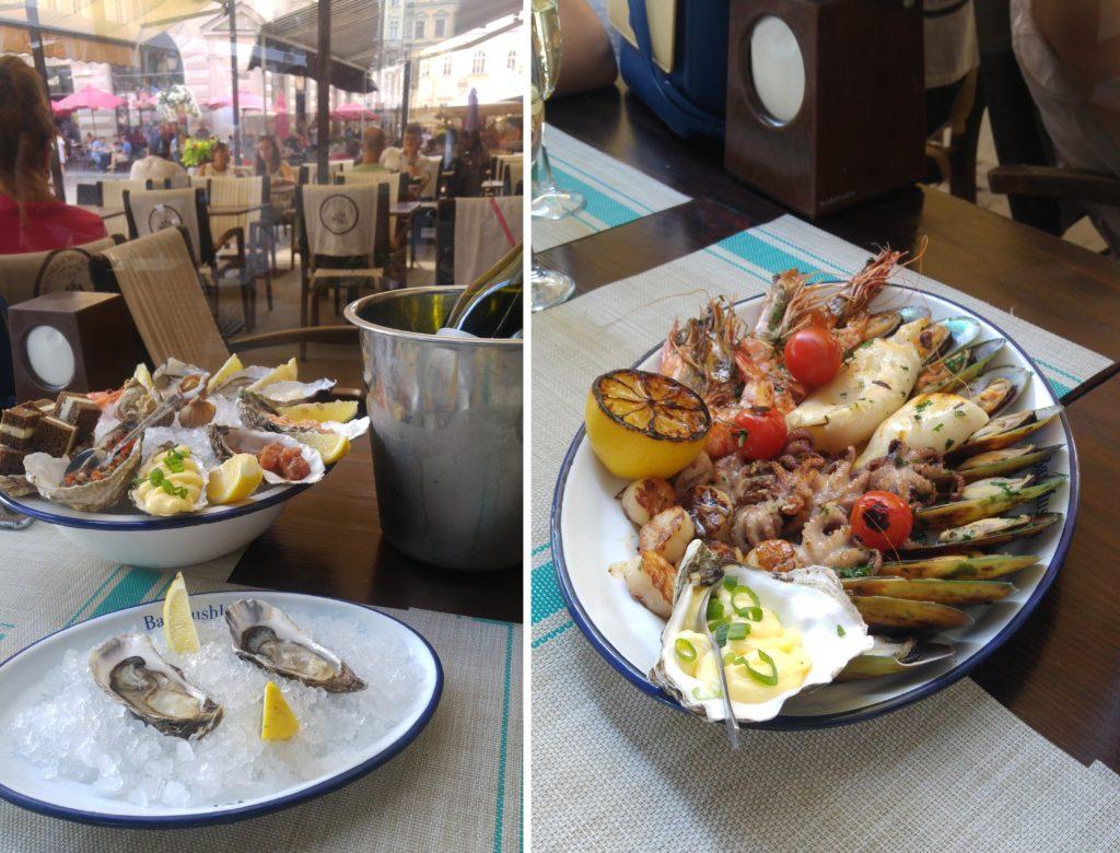 Bar Mushly - ostrygi i owoce morza we Lwowie