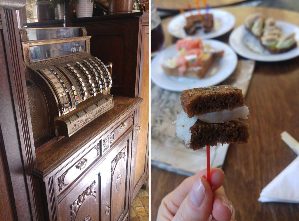 Chleb i Wino - stara maszyna i kanapka z sało