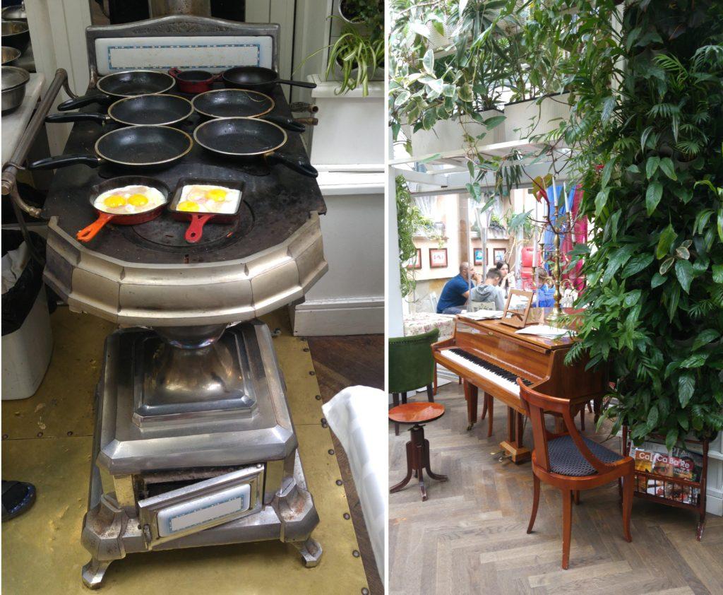 Restauracja Baczewskich we Lwowie - śniadanie i wnętrze