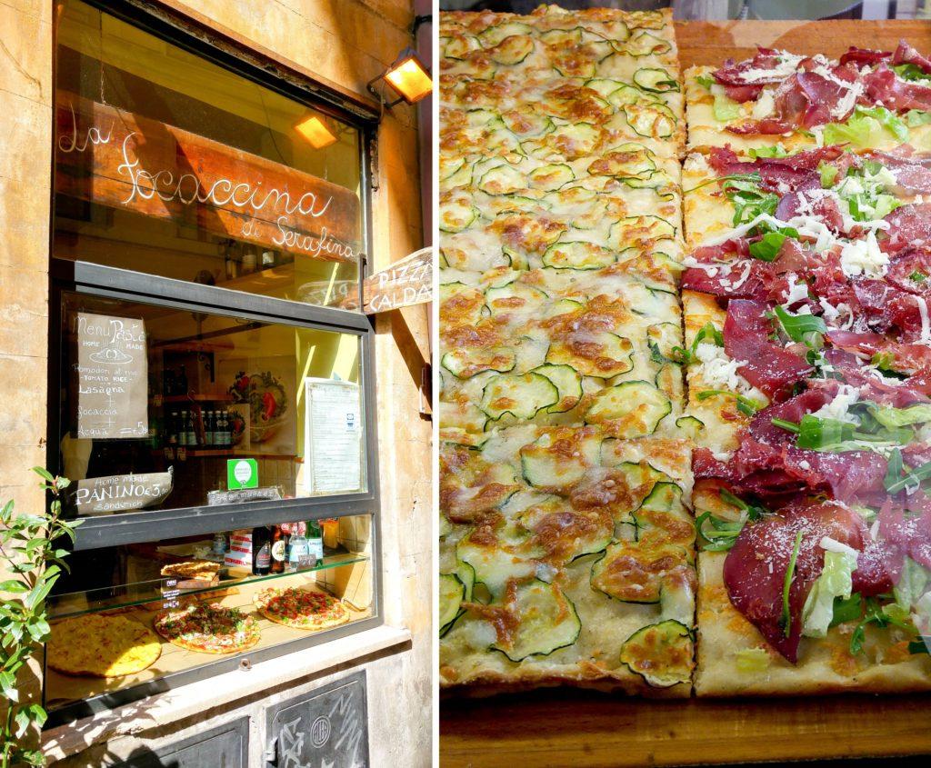 La foccacina di serafina, pizza na kawałki