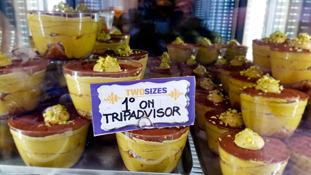 Two sizes, tiramisu