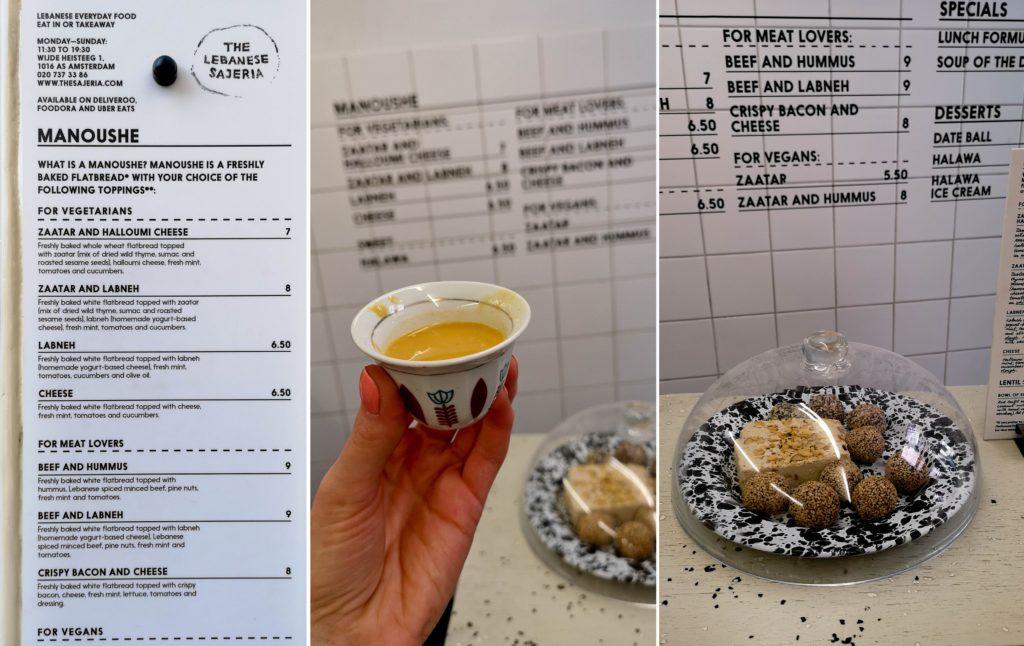 Lebanese Sajeria - menu